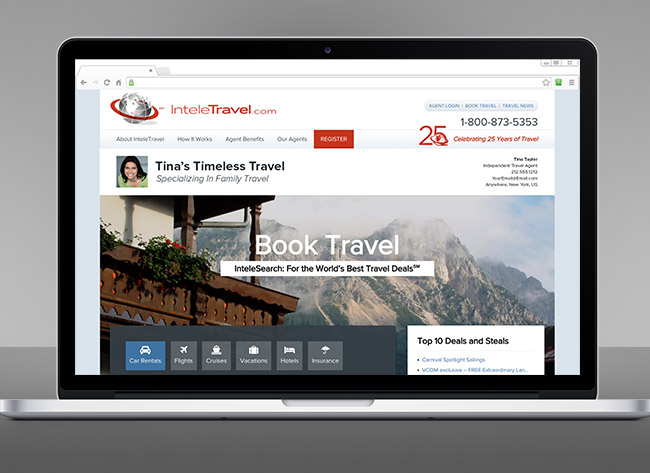 Travel Agency Website >> Agent Benefits | InteleTravel