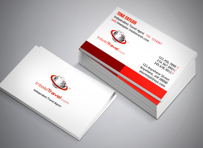 InteleTravel Agent Business Card