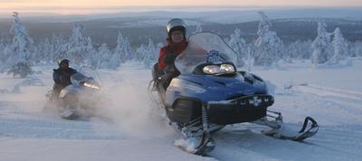 Snowmobile adventures with Transun