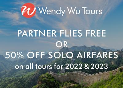 wendy wu - partner flies free or 50% off solo airfares